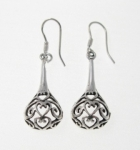 E58 Silver filigree earrings
