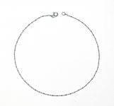 A1 Sterling silver anklet