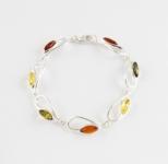 AB3 Silver Baltic Amber Bracelet