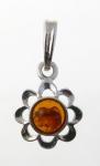 AP1 Silver Baltic Amber Pendant