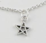 A12 Silver pentagram anklet