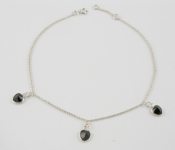 A2 Love heart crystal anklet