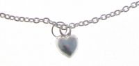 A40 Sterling silver heart anklet