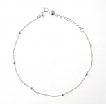 A48 Sterling silver chain and bell anklet