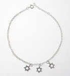 A49 Sterling silver star of david anklet