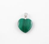 AG8 Malachite heart pendant