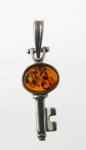 AP16 Silver Baltic Amber Earrings