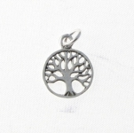 CM45 Silver Tree of Life Charm