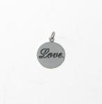 CM48 Silver Love Disc Charm