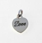 CM55 Silver love heart charm