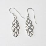 E100 Silver Elegant Celtic Earrings
