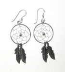 E103 Dreamcatcher earrings