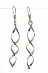 E112 Silver spiral earrings