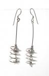E117 Spiral drop earrings