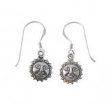 E130 Sun face earrings