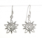 E140a Swirl and sun earrings