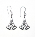 E141 Triskele drop earrings