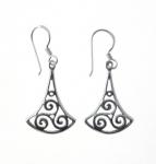 E141 Triskele drop earrings