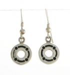E150 Silver Circle earrings