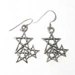 E163 cluster pentagram earrings