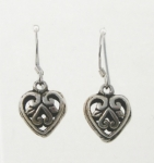 E190 3D Filigree Heart Earrings
