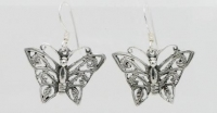 E3 Ornate butterfly earrings