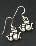 E48 pussy cat earrings