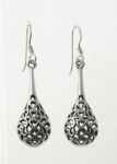 E58 Filigree Onion Drop Earrings