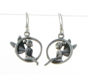 E6 silver tinkerbell earrings