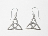 E61 Silver celtic triquetra earrings