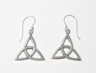 E61 Silver celtic triquetra earrings