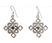 E64 Celtic diamond earrings