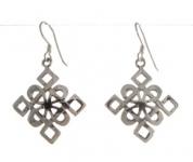 E64 Celtic diamond earrings