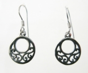 E69 Celtic outline earrings
