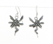 E7 Silver fairy earrings
