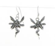 E7 Silver fairy earrings