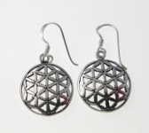 E71 flower of life earrings