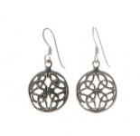E74 Celtic circle earrings