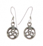 E81 Celtic triangle earrings