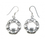 E84 Claddagh celtic earrings
