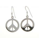 E88 Peace symbol earrings