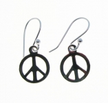 E88a Peace sign earrings