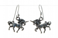 E9 Silver unicorn earrings