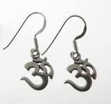 E93 Silver Ohm Earrings