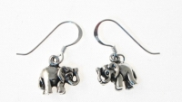 E95 Silver Elephant Earrings
