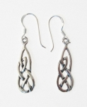 E98 Silver Celtic Earrings