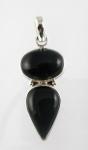 GP14 Silver black onyx pendant