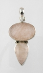 GP14 Silver rose quartz pendant
