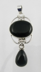 GP15 Silver black onyx pendant