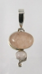 GP16 Silver rose quartz pendant